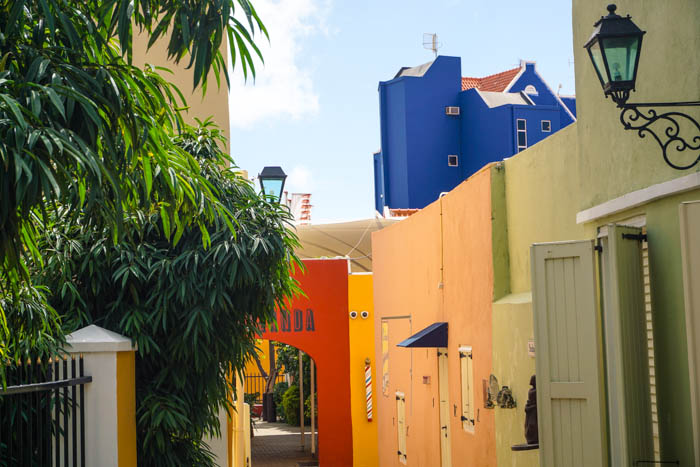 Colourful buildings with a Mediteranean charm